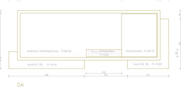 Grundriss Architektenhaus Dachbegrünung