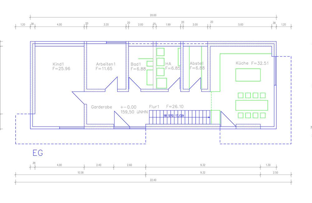 Grundriss Architektenhaus Erdgeschoss