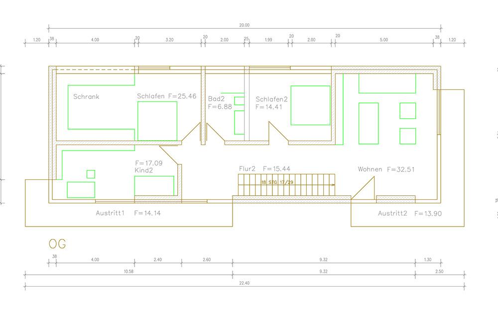 Grundriss Architektenhaus Obergeschoss