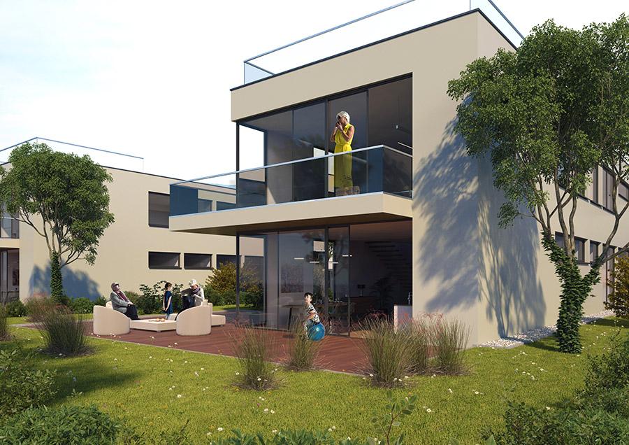 Architektenhaus Terrasse