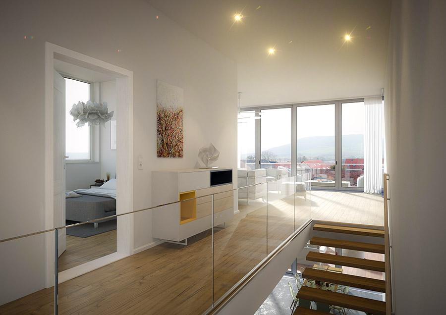 Architektenhaus Wohnzimmer
